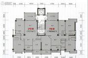 海悦名庭3室2厅3卫127平方米户型图