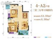 芸峰兰亭2室2厅1卫0平方米户型图