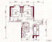 嘉兰轩2室2厅1卫83平方米户型图