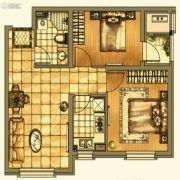 银亿格兰郡2室2厅1卫76平方米户型图