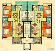尚景康园122--123平方米户型图