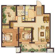 公元壹号3室2厅1卫89平方米户型图
