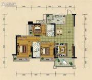 汇源新都3室2厅2卫106平方米户型图