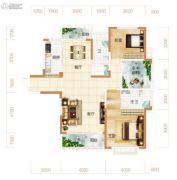 东方美地3室2厅2卫134平方米户型图