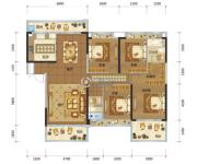 兴佳・一品江山4室2厅2卫188平方米户型图