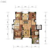 金地檀悦4室2厅2卫129平方米户型图