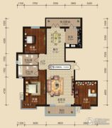 中关国际3室2厅2卫0平方米户型图