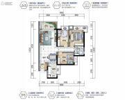 沙田碧桂园3室2厅1卫0平方米户型图
