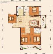 宏维・山水明城・卧龙苑4室2厅2卫150平方米户型图