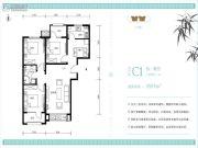 北京怡园3室2厅1卫95平方米户型图