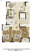 铂金时代3室2厅2卫0平方米户型图