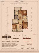 丽江半岛4室2厅2卫116平方米户型图