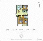 朗诗绿色街区3室2厅2卫140平方米户型图
