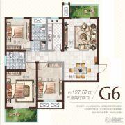 广厦曼哈顿3室2厅2卫127平方米户型图