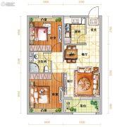 越秀星汇蓝海2室2厅1卫81平方米户型图