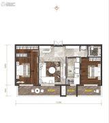 长九广场2室1厅1卫92平方米户型图