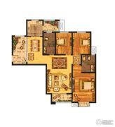 发展红星城市广场3室2厅2卫139平方米户型图