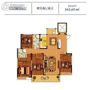 常绿大溪地4室2厅2卫162平方米户型图