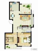 金桥澎湖山庄2室2厅1卫97平方米户型图