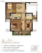 保利・叁仟栋2室1厅1卫0平方米户型图