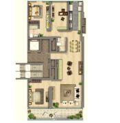 中鹰黑森林3室2厅2卫0平方米户型图