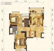 丽发新城2室2厅1卫92平方米户型图