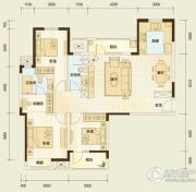 万科汉阳国际3室2厅2卫130平方米户型图