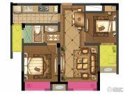 时代广场二期2室2厅1卫77平方米户型图