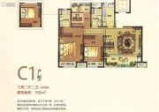 伟星幸福里3室2厅2卫110平方米户型图
