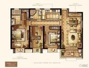 万达华府・大公馆3室2厅2卫137平方米户型图