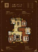 中海国际公馆3室2厅2卫170平方米户型图