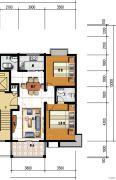 四季花城2室2厅2卫0平方米户型图