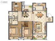 中海九玺3室2厅2卫118平方米户型图