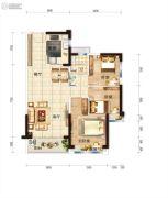 碧桂园・龙熹山3室2厅2卫95平方米户型图