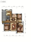 恒丰理想城3室2厅2卫136平方米户型图