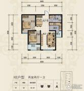 三田雍泓・青海城2室2厅1卫84平方米户型图