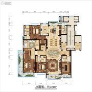 开元府5室3厅4卫370平方米户型图