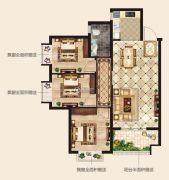 华廷四季城3室2厅1卫94平方米户型图