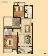 吴中万达广场2室2厅1卫93平方米户型图