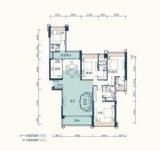 恒基五洲家园4室2厅4卫170平方米户型图