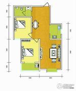 华普城2室2厅1卫105平方米户型图