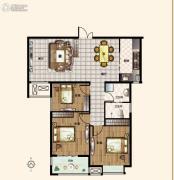 亚星锦绣山河3室2厅2卫115--116平方米户型图