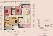 中央首座3期银座4室2厅2卫144平方米户型图
