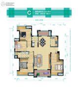 华润橡树湾4室2厅2卫128平方米户型图