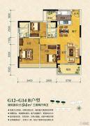 珠江御景山庄3室2厅2卫94平方米户型图