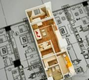金色年华公馆1室2厅1卫75平方米户型图