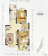 万达西双版纳国际度假区2室1厅1卫72平方米户型图