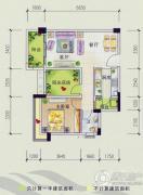 美林假日1室2厅1卫0平方米户型图