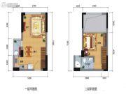 中正SOHO1室2厅1卫0平方米户型图