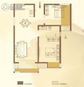 华泰・玉景台2室2厅1卫91平方米户型图